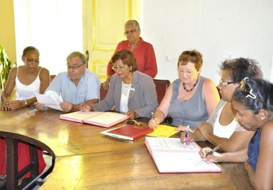 Signature de la convention d'objectifs et de financement des structures associatives de jeunes enfants.
