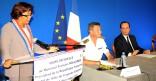 Visite Présidentielle : François HOLLANDE rencontre les socioprofessionnels à l'Hôtel de Ville