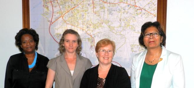 Visite de la Chef de service consulaire à l'Ambassade des Etats Unis de Paramaribo