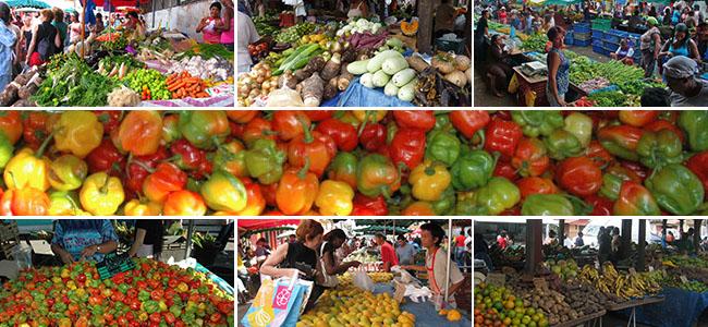Marché des fruits et légumes