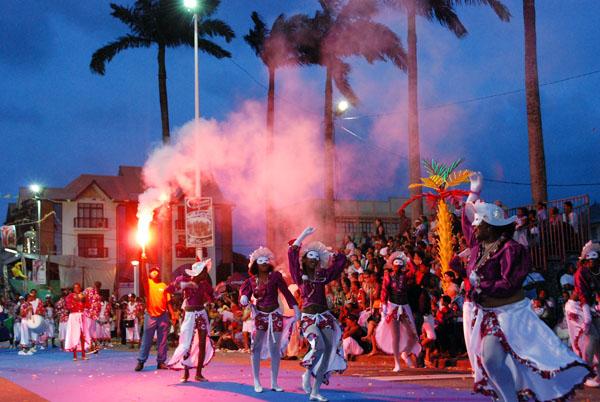 place des palmistes durant le carnaval
