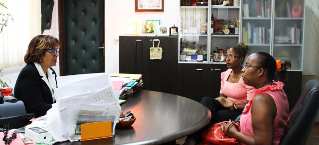 Visite de courtoisie de Madame ROUBAUD, une élue du 77