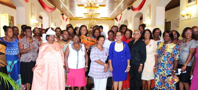 Remise des médailles du travail à la Maire de Cayenne