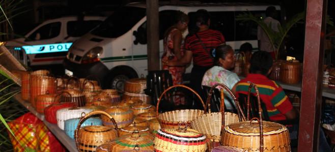 Vannerie Kontré au Carbet central du Marché de Cayenne