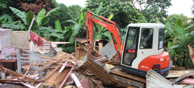 Éradication des squats, nouvelle démolition quartier de Ploërmel