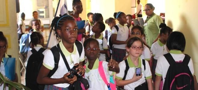 Rencontre avec les CE2 de l'École Anne-Marie JAVOUHEY