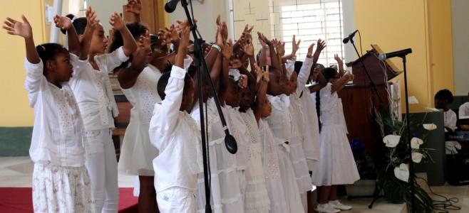 Première rencontre des chorales,  à la Cathédrale Saint Sauveur de Cayenne