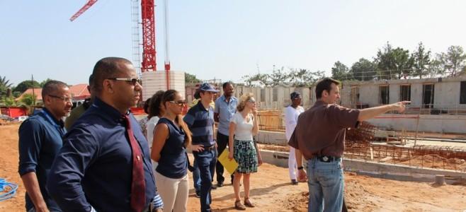 Reconstruction du Stade Nautique Municipal : visite d'avancée du chantier