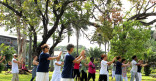 La pause Taï Chi Chuan au jardin botanique