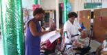 Rencontre intergénérationnelle entre les petits du jardin d'enfants municipal et les pensionnaires de l'EHPAD