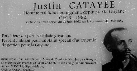 Le Maire participe au 53 ème anniversaire de la mort de Justin CATAYEE, à Pointe-à-Pitre