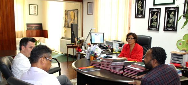 Madame le Maire reçoit le nouveau Directeur EDF Guyane