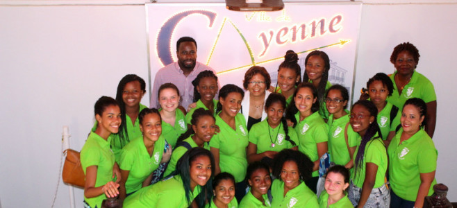 Le maire accueille des élèves de Port of Spain