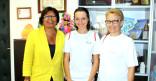 Lucile Lacourte reçue à la Mairie de Cayenne