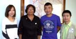 Le Maire reçoit les voyageurs de « Adventure  400 Global Track Tour»
