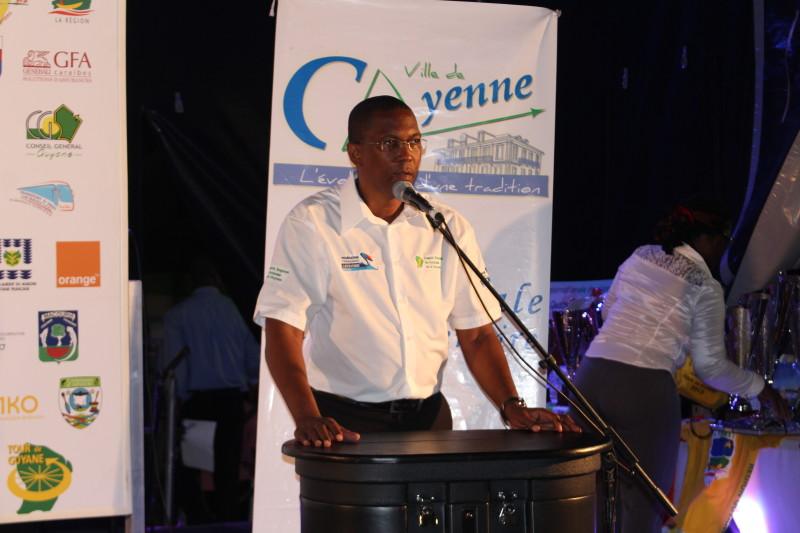 Allocution Président comité cycliste Guyane