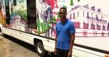 Xavier DOLLIN, l'infographiste du Médiabus de la Ville, de passage en Guyane