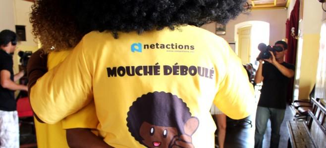 Présentation de la mascotte Mouché Déboulé