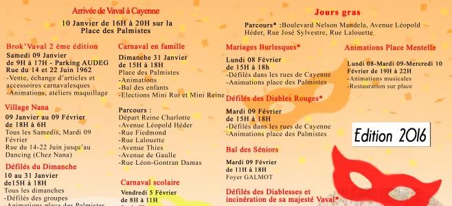 Programme Carnaval 2016