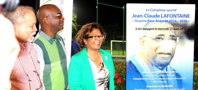 Inauguration du complexe sportif Jean-Claude Lafontaine