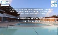 Ouverture exceptionnelle du Centre Aquatique de Cayenne