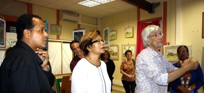 Vernissage de l'exposition J.F. Favre à l'office de tourisme