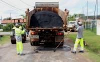 Campagne d'enrobé de la Ville de Cayenne