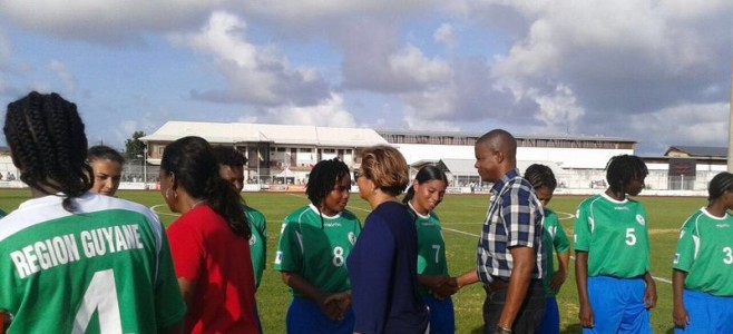 Match amical féminin de football Haïti/Guyane
