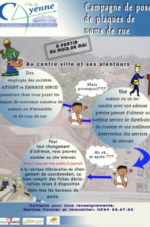 Campagne d'adressage à Cayenne