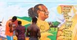 Inauguration des fresques murales à la cité Cabassou