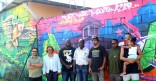 Inauguration de la fresque du Skatepark de Mirza