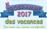 Programme des grandes vacances 2017