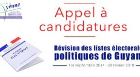 Révision des listes électorales politiques de Guyane