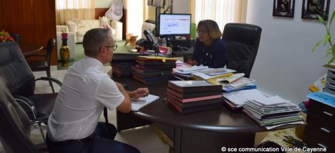 Visite protocolaire du nouveau Préfet Patrice Faure