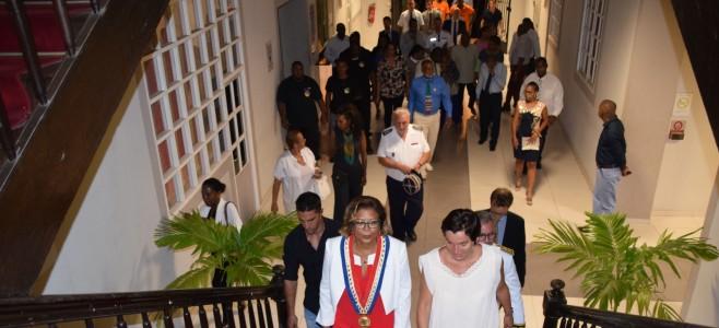 Annick GIRARDIN, Ministre des Outre-mer en visite en Guyane