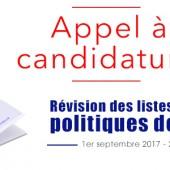 Appel à candidatures