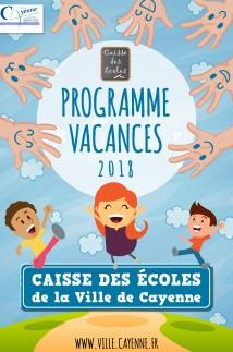 Programme Vacances 2018