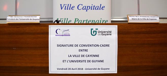 Signature de Convention-cadre entre la Ville de Cayenne et l'Université de Guyane
