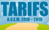 Tarifs A.C.E.M. 2018 – 2019