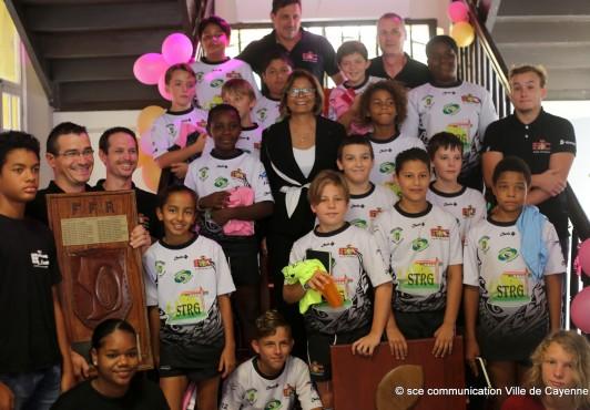 Réception des jeunes champions