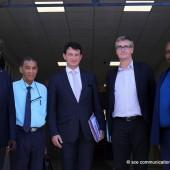 Visite de Monsieur Olivier NOBLECOURT délégué interministériel à la prévention et à la lutte contre la pauvreté des enfants et des jeunes.
