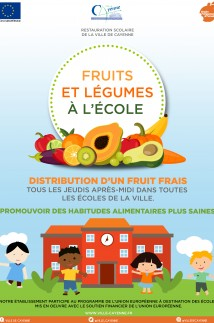 Fruits et légumes à l'école