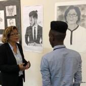Exposition à la maisons des lycéens du lycée Melkior-Garre