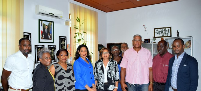Visite du Consul Général de Sainte-Lucie, Madame Johanna SALTON