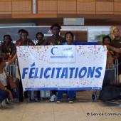 Comité d'accueil à l'aéroport Félix Eboué