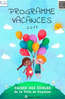 Programme vacances 2019