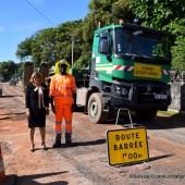 Suivi hebdomadaire des travaux de la route de Raban par Marie-Laure PHINERA-HORTH