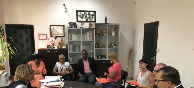 Rencontre protocolaire du  nouveau Directeur de la Caisse d'allocations familiales de la Guyane