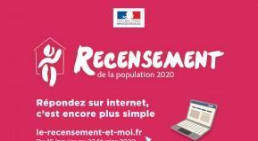Le Recensement se déroule dans votre commune du 16 janvier au 22 février 2020