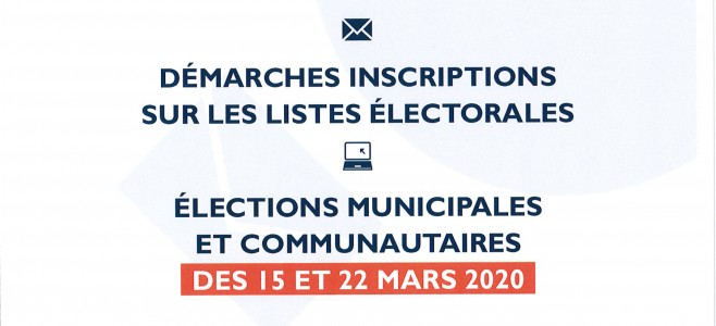 Démarches inscriptions sur les listes électorales